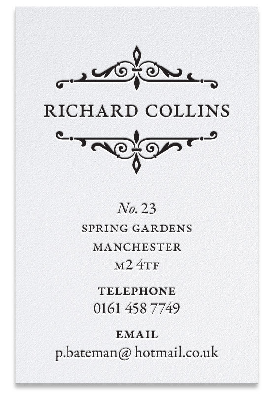 Ironwork letterpress business card