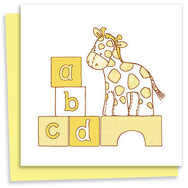 Baby Giraffe on Blocks