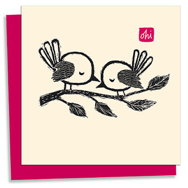 Love birds letterpress greeting card