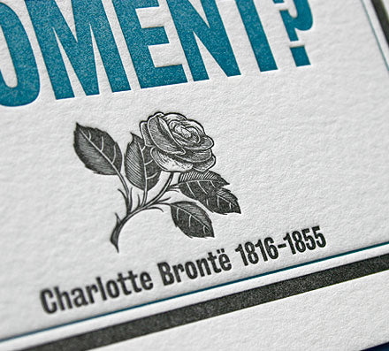 Charlotte Brontë quote letterpress greeting card