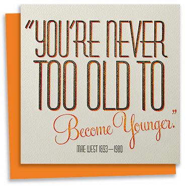 Mae West quote letterpress greeting card