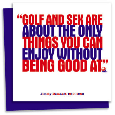 Jimmy Demaret letterpress greeting card
