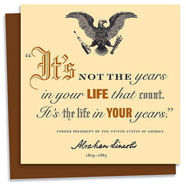 Abraham Lincoln quote letterpress greeting card
