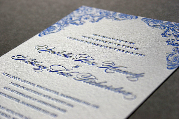 Charlotte letterpress day invitation