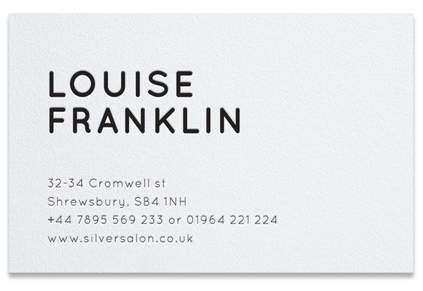 Cromwell personalised letterpress business cards