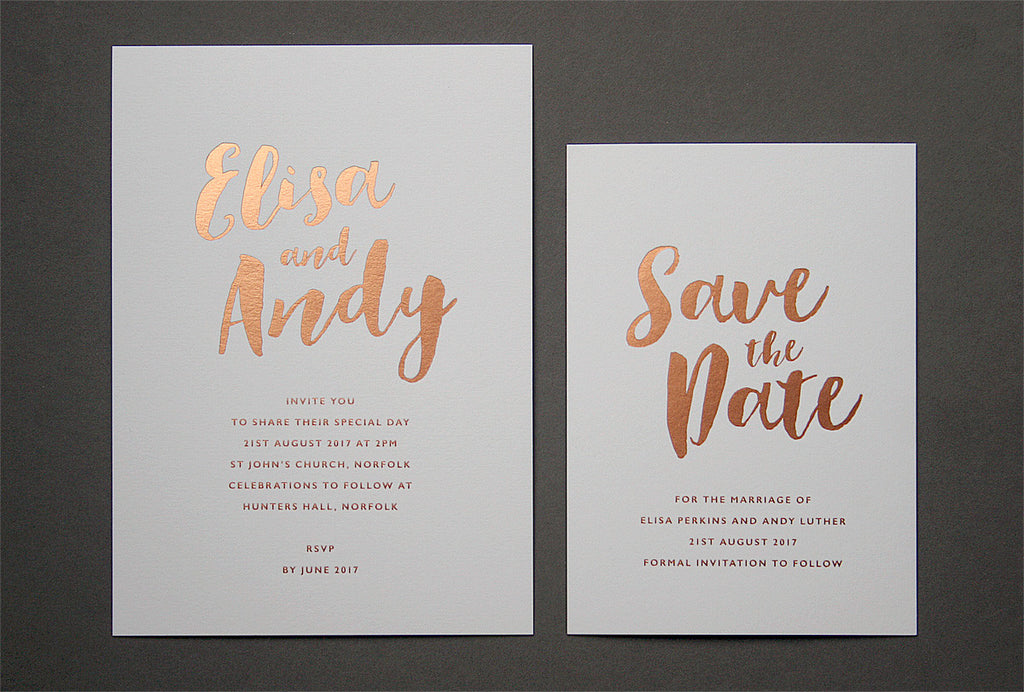 Cost Of Calligraphy For Wedding Invitations: Calligraphy Hot Foil Wedding