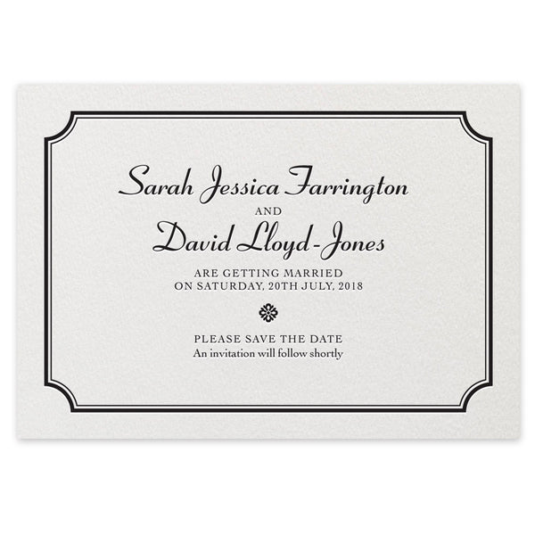 Farrington Save the Date - letterpress wedding stationery