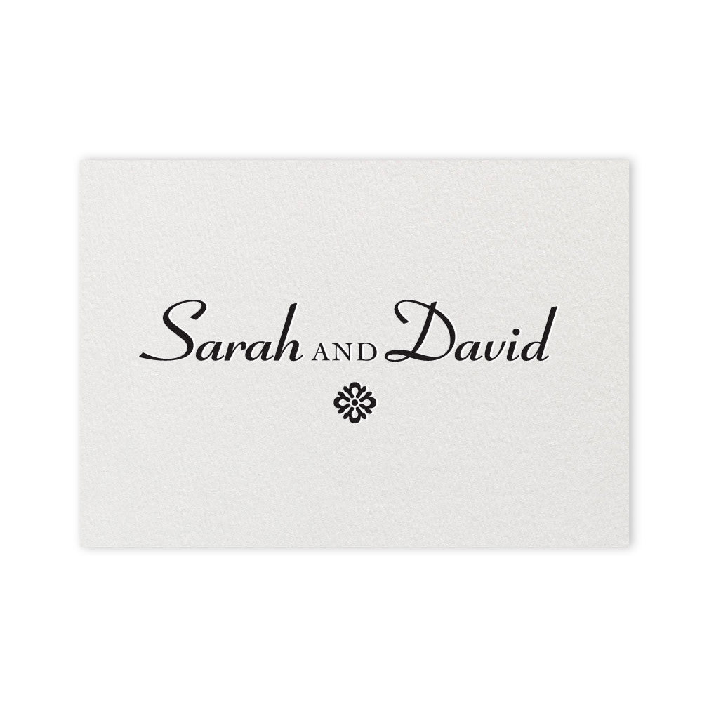 Farrington Place Card - letterpress wedding stationery