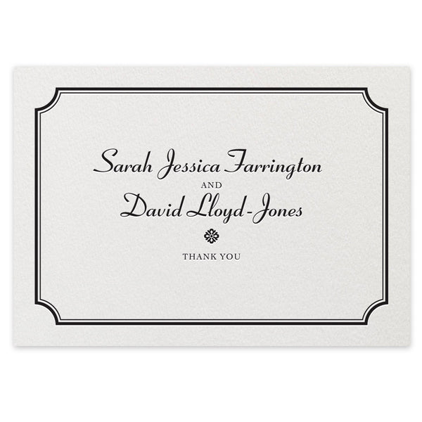 Farrington Thank You Card - letterpress wedding stationery