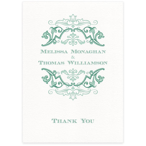 Fleuron thank you card