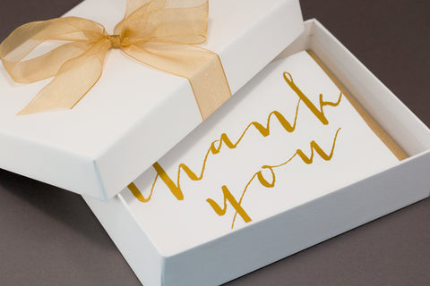 Gold hot foil thank you cards gift set