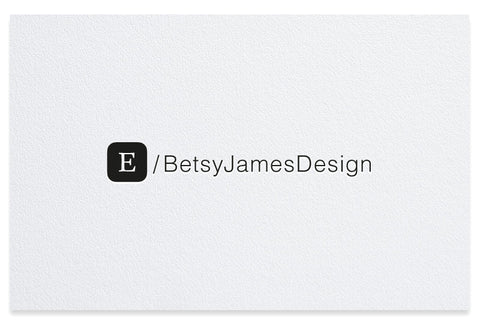 Etsy letterpress business cards