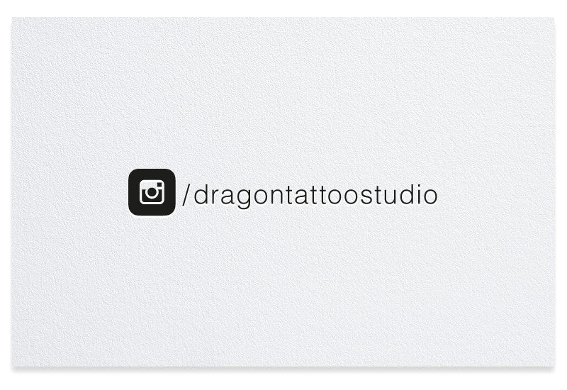 Instagram letterpress business card
