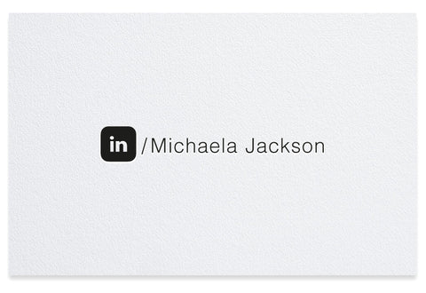 LinkedIn letterpress business card