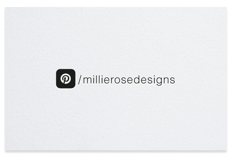 Pinterest letterpress business card