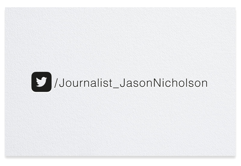 Twitter letterpress business card