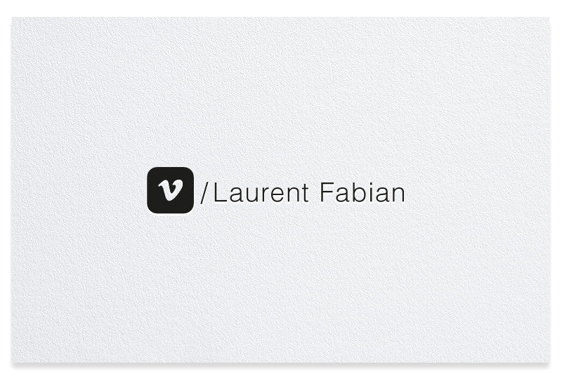 Vimeo letterpress business cards