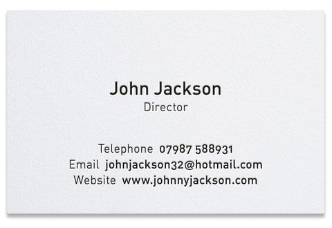 Jackson letterpress business card