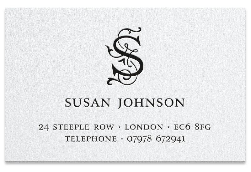 Johnson letterpress business cards