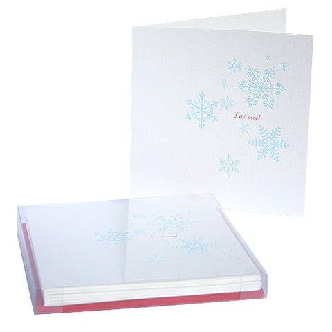 Let it snow letterpress Christmas cards