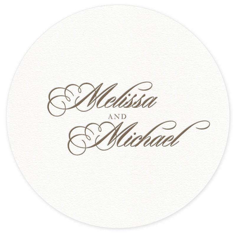Monroe letterpress wedding coaster