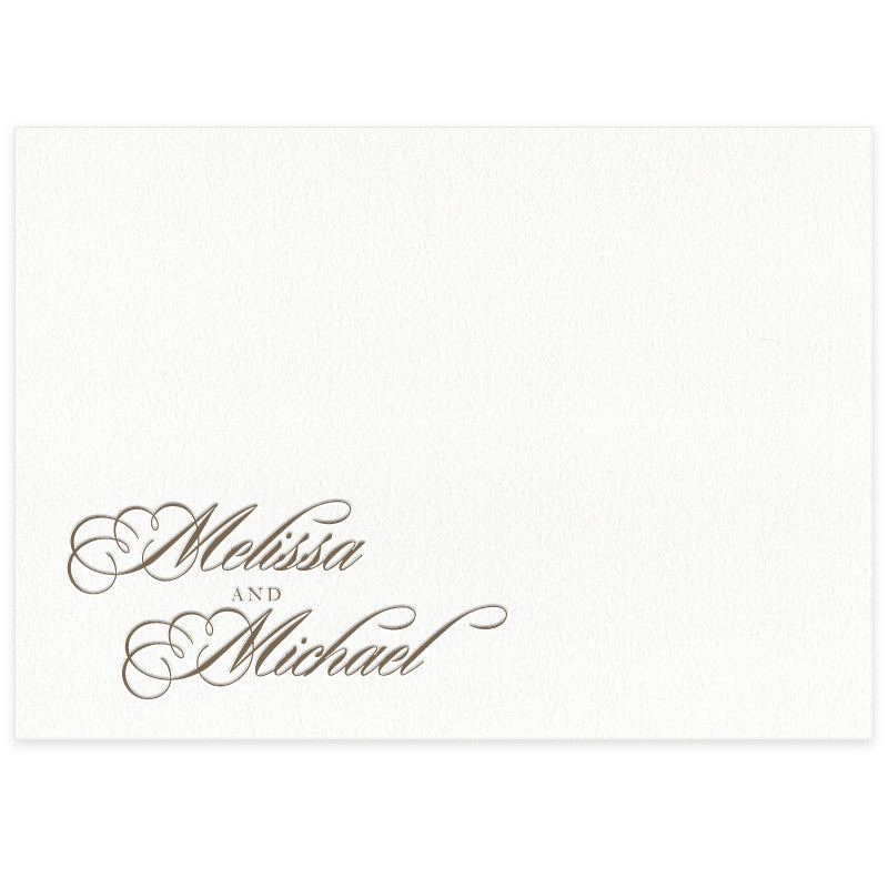 Monroe letterpress place card