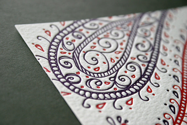 Paisley letterpress Belly Band