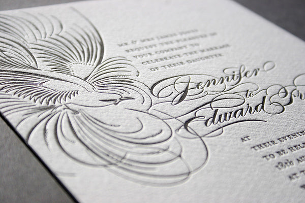 Pluma letterpress day invitation
