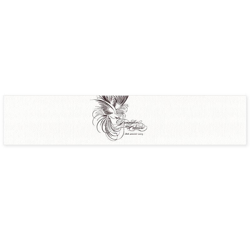 Pluma letterpress wedding stationery belly band