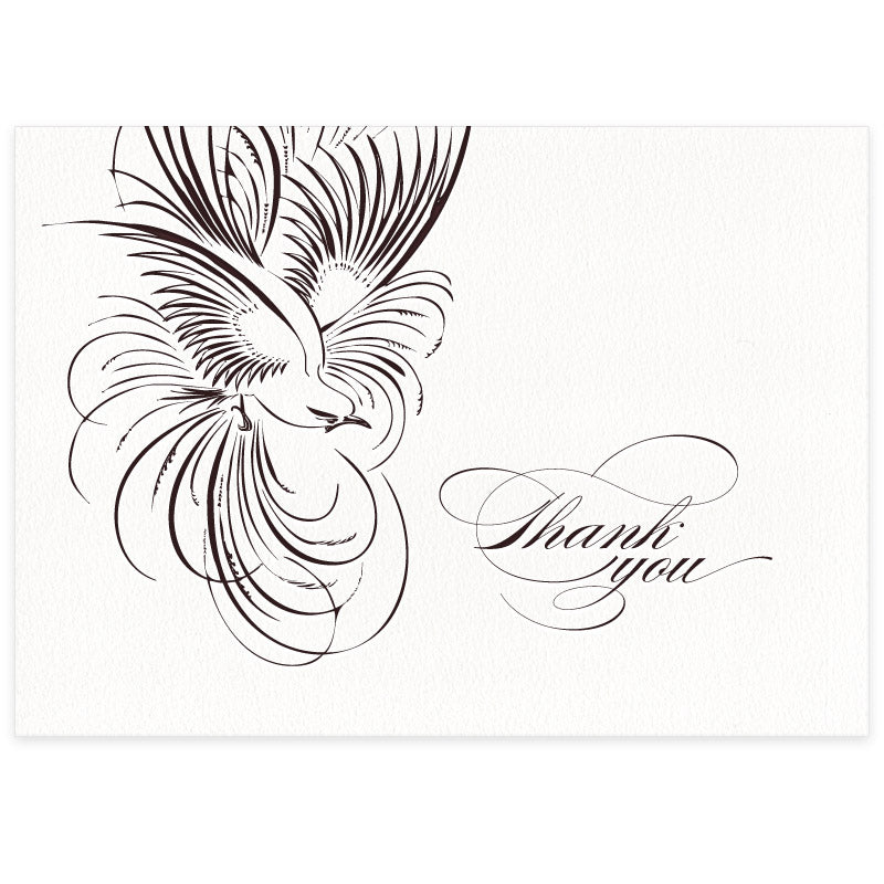 Pluma letterpress wedding thank you card