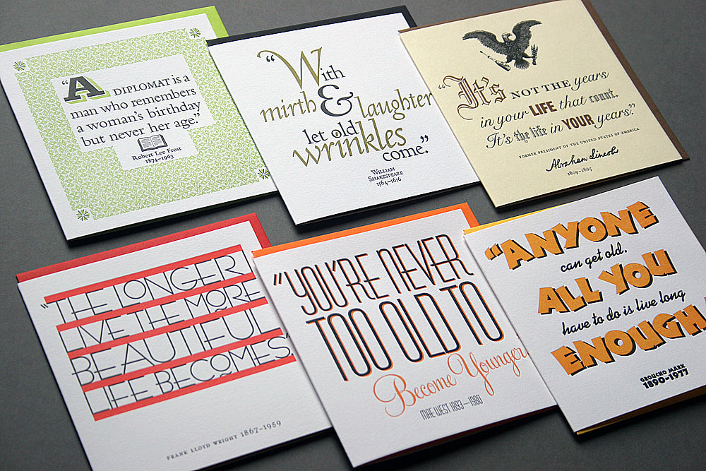 quotes assorted birthday card pack - Birthday Card Packs