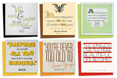 Quotes Assorted Birthday Card Pack