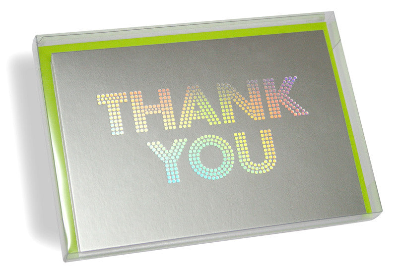 Rainbow holographic thank you cards boxset