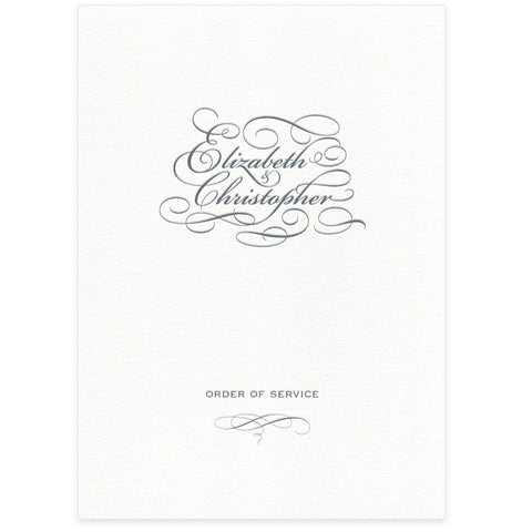 Reynolds letterpress order of service
