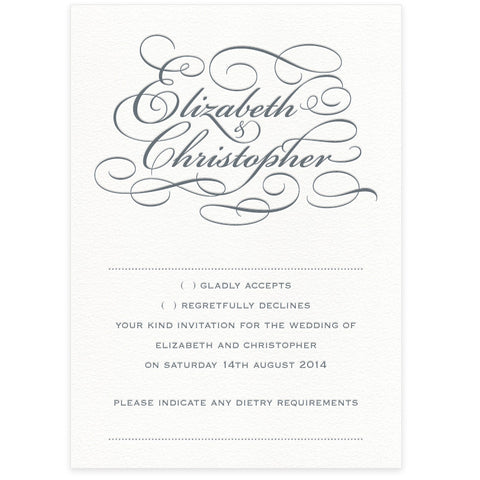 Reynolds RSVP letterpress wedding stationery