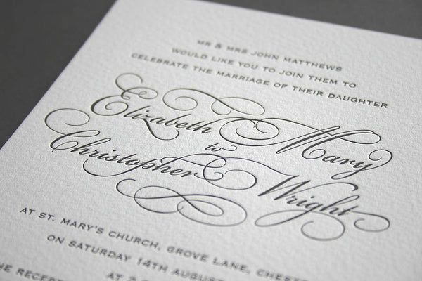 Reynolds letterpress wedding stationery