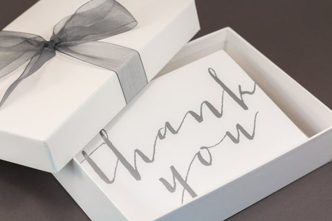 Silver hot foil thank you cards gift set