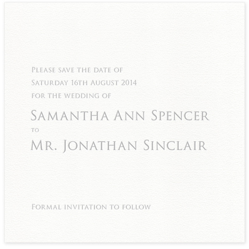 Sinclair letterpress Save the Date