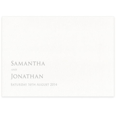 Sinclair letterpress place card
