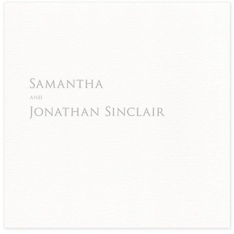 Sinclair letterpress thank you card