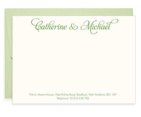 Stirling letterpress correspondence cards