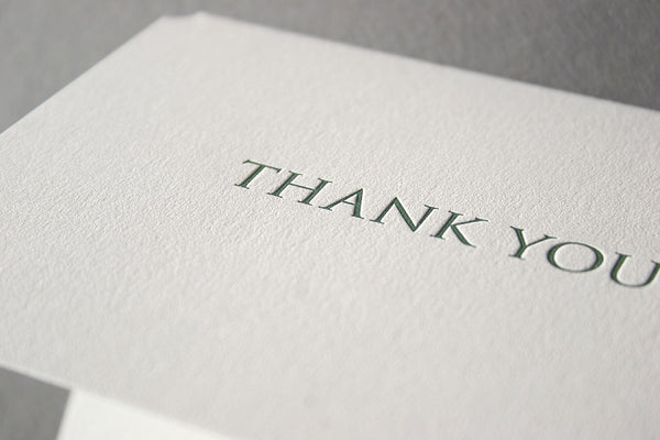 Trajan letterpress thank you cards gift set