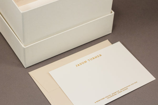 Turner hot foil correspondence cards