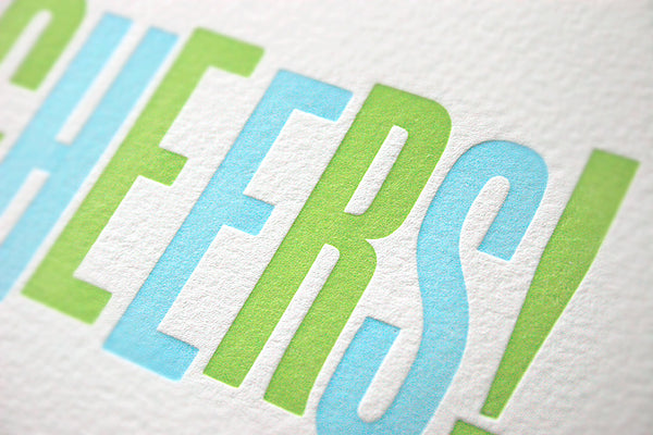 Cheers! letterpress greeting card