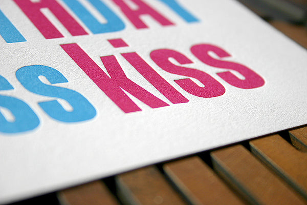 Happy Birthday letterpress greeting card