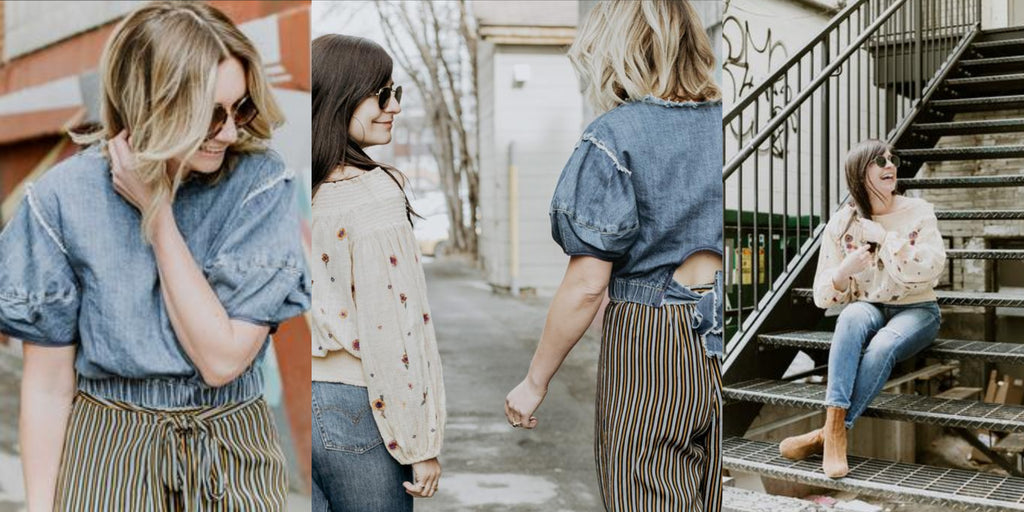 Sophie Beaudoin and Renee Morra are the owners of viens avec moi boutique, a contemporary clothing boutique in Ottawa, ON.