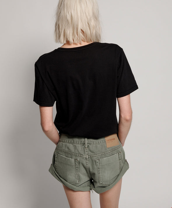 Super Khaki Bandits Denim Shorts