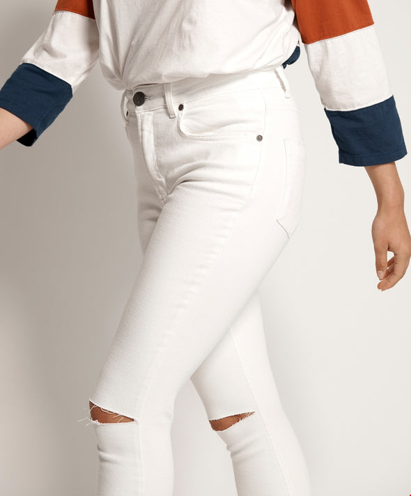 White Freebirds II Super High Waist Skinny Jean
