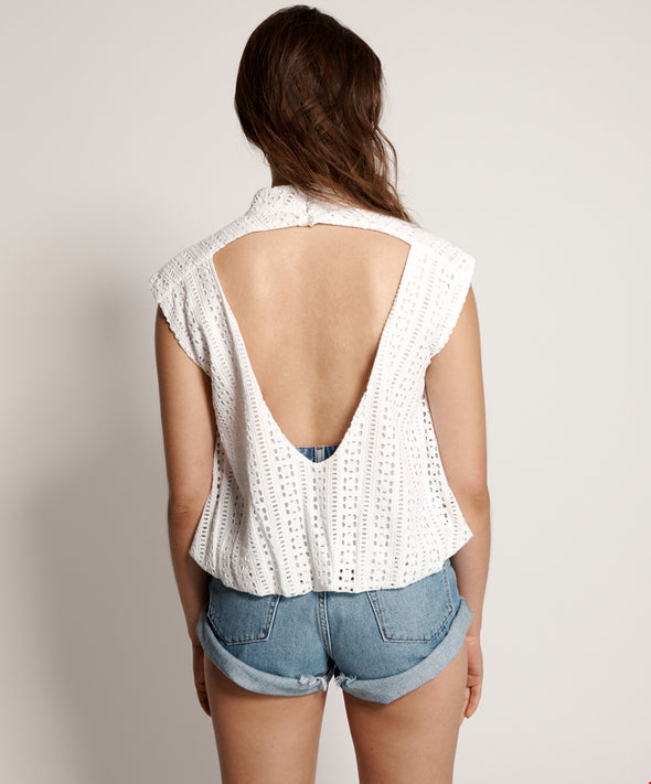 Embroidered Anglaise Bubble Top
