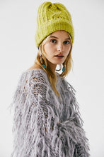 Harlow Cable Knit Beanie Matcha